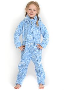 "Picture of Jumpsuit fleece ""Classic"" blue pattern"
