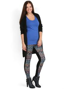 Picture of Pants Leggings black Orian/ornament