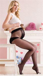 Bild von Колготки для беременных 20  DEN со специальной вставкой черные