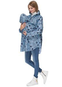 """Obrázek Pláštěnka 3в1 """"Greni"""" vzory na modrém pro těhotné, babywearing, obyčejný"""