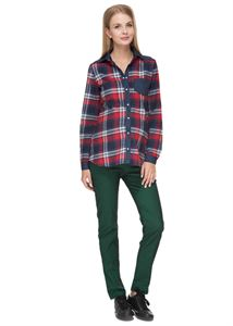 """Obrázek Kalhoty """"Werner"""" pro těhotné; barva: zelená"""