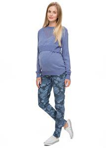 Obrázek Džíny Chelsea šedé s květinami pro těhotné