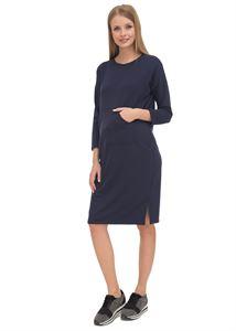 """Obrázek Šaty """"Laura"""", tmavě modré pro těhotné a kojící"""