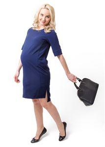 """Image de Robe """"Palmer""""bleu foncé pour les femmes enceintes"""