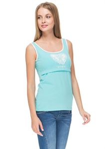 Picture of  Alda Nursing Tank Top ; color: Aqua