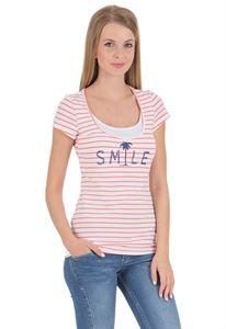 """Bild von """"Bit"""" Stillshirt ; Farbe: weiß/Lachs"""