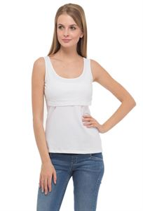 Picture of  Alda Nursing Tank Top In white