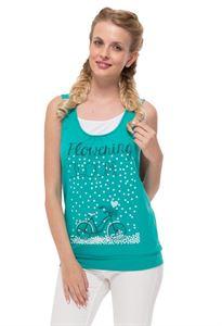 "Bild von ""Gretta"" Umstandsunterhemd/Stillunterhemd smaragdgrün"