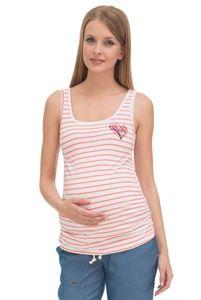 """Obrázek Tričko """"Sasha"""" pro těhotné; barva: bílá/losos"""