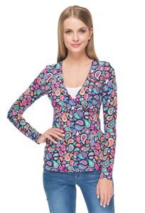 "Picture of long sleeve ""mindy"" for nursing; color: blue/Paisley"