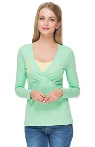 "Picture of long sleeve ""mindy"" for nursing; color: Apple"