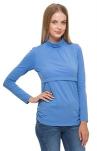 Picture of Turtleneck Glamour blue maternity and nursing
