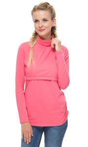 Picture of Turtleneck Glamour pink maternity and nursing