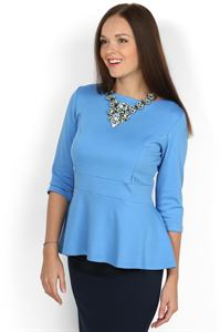 Picture of Blouse Stefi light blue maternity and nursing