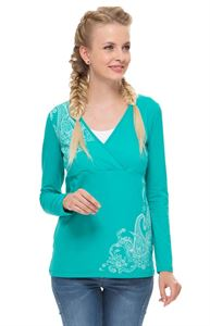 Picture of Maternity and nursing long sleeve Lora emerald