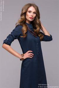 Bild von Kleid DM00652BL Blaue Maxi-Länge mit Schlitzen