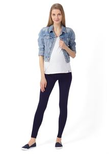 """Picture of Leggings """"Step"""" for pregnant women; color: dark blue"""