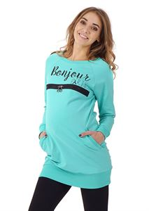 "Picture of Jumper ""Sport"" maternity and nursing; color: menthol"