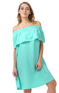 "Picture of ""Content"" Maternity and nursing dress; color: menthol"