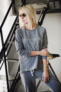 "Picture of Sweatshirt ""Vilena"" print ""Gusty vigor"" Heather grey"