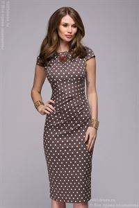 Picture of Dress DM00204BR coffee