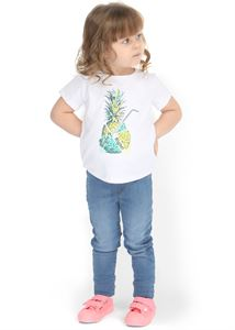 "Picture of T-shirt children's ""I love Mum"" white Pineapple"