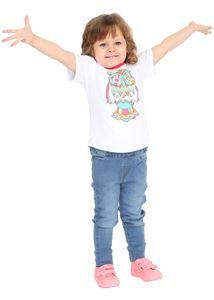 """Bild von """"I Love Mum"""" Baby T-Shirt whiß mit Bunten Eulen"""