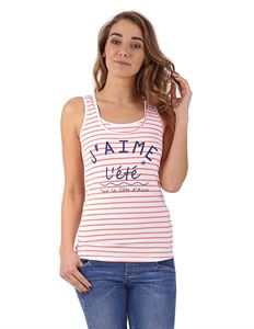 Picture of Nursing MX01 tank top; color: white/salmon