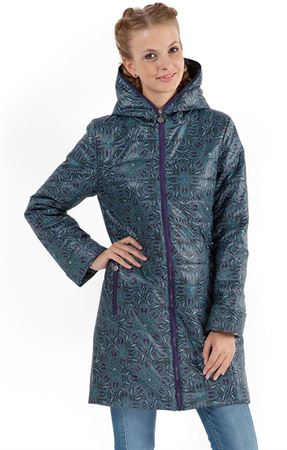 "Picture of Demi-season jacket ""Olivia"" beads on blue"