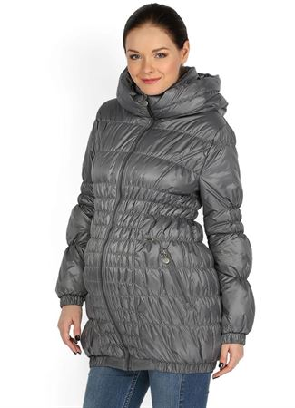 """[translate] Изображение   Демисезонная куртка  """"Сандра"""" 3в1  серая для беременных и слингоношения"""