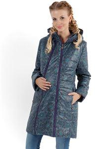 """Image de   Демисезонная куртка  2в1 """"Оливия"""" бисер на синем для беременных"""