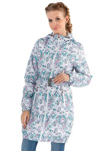 "Picture of Jacket demi 3in1 ""Voila"" Paisley turquoise on white for pregnant women and babywearing"