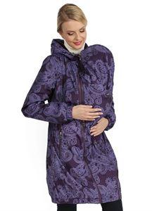 """Image de Veste демисезонная 3in1 """"Hop"""" motif sur le violet pour les femmes enceintes et babywearing"""