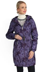 "Picture of Jacket demi 3in1 ""Voila"" pattern on the eggplant for pregnant women and babywearing"