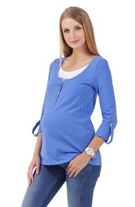 """Obrázek Svetr """"Jay"""" modrá pro těhotné a kojící"""