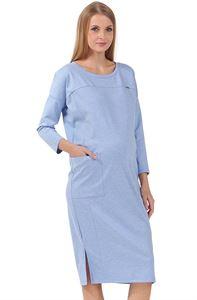 """Изображение Платье """"Гильда"""" для беременных и кормящих; цвет: денимный меланж"""