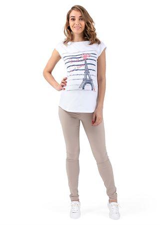 """Obrázek z Kalhoty """"Giuliana"""" pro těhotné 2 v 1; barva: béžová"""