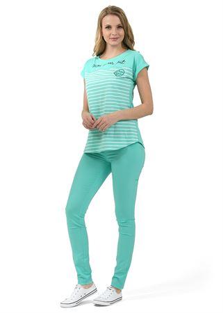 """Obrázek z Kalhoty """"Giuliana"""" pro těhotné 2 v 1; barva: mentol"""
