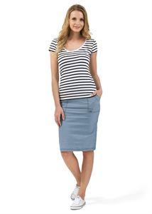 """Picture of """"Branda"""" Maternity skirt 2 in 1; color: light denim"""