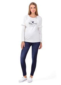 """Bild von Leggings """"Jeans"""" für schwangere; Farbe: Jeans blau"""
