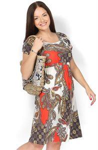"""Obrázek Šaty """"Amun"""" brož pro těhotné"""