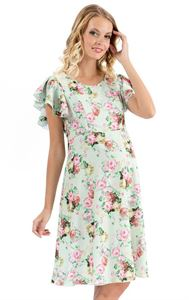 """Picture of """"Amily"""" Maternity and nursing dress with apple print"""