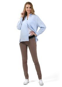 """Obrázek Kalhoty """"Giuliana"""" pro těhotné 2 v 1; barva: mocca"""