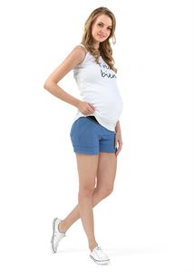 "Picture of ""Jill"""" Maternity shorts ; colour: cornflower blue"