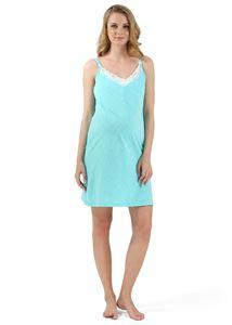 """Bild von """"Maiza"""" Nachthemd für schwangere und stillende; Farbe: Minze ; Farbe: Menthol"""