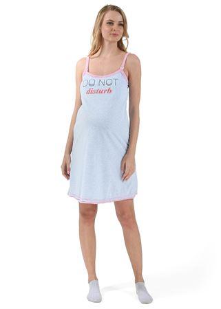"""Bild von """"Betta"""" Nachthemd für schwangere und stillende; Farbe: Minze ; Farbe: blau"""