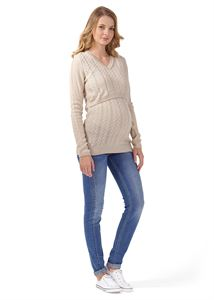 "Picture of Jumper ""Dominica"" for maternity and nursing; color: ivory"