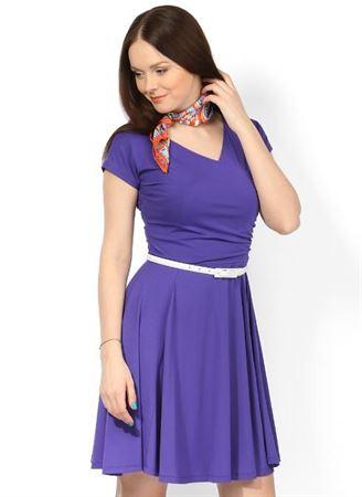 Obrázek z Šaty PV05 fialová pro těhotné a kojící