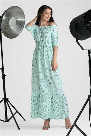 """Изображение Платье длинное """"Линель"""" ; цвет: ментол"""