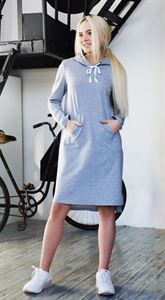 """Picture of Dress """"Maurycy"""" light Heather grey"""